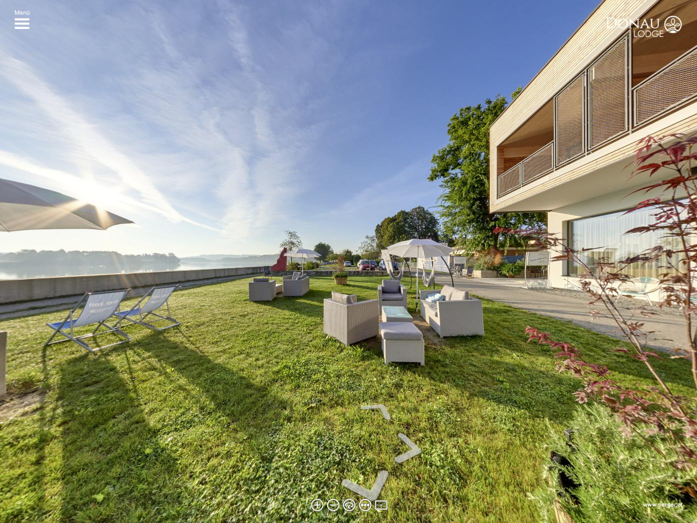 Donau Lodge Ybbs an der Donau, 360° Panorama, Virtuelle Tour von Fotograf Johann Perger, Melk, Pöchlarn